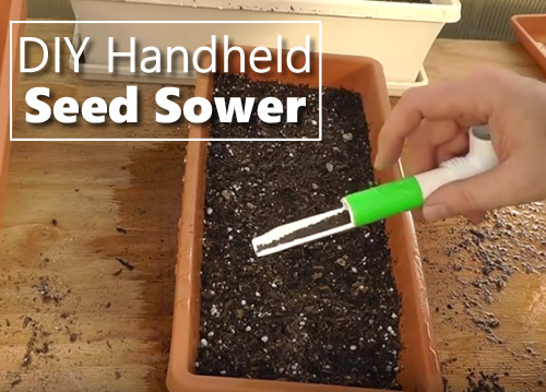 DIY Handheld Seed Sower Tool