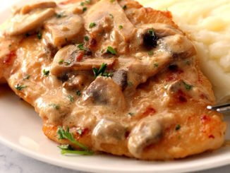 Creamy Mushroom Garlic Chicken Recipe