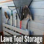 DIY Wood Pallet Tool Storage