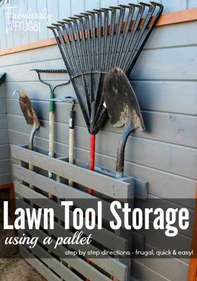 DIY Wood Pallet Tool Storage