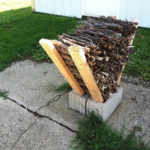 DIY Cinder Block Kindling Holder