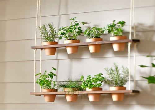 DIY Hanging Herb Garden Planter