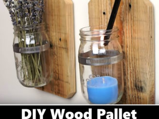 DIY Wood Pallet Jar Wall Hangings