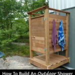 DIY Wooden Outdoor Shower