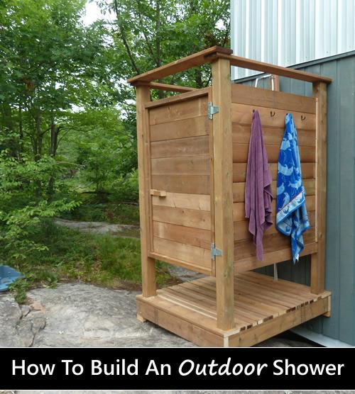 Diy Wooden Outdoor Shower