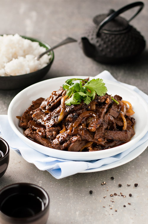 Chinese Beef & Honey Black Pepper Sauce Recipe