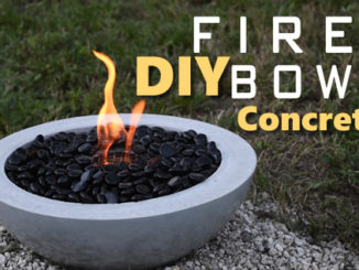 DIY Concrete Fire Bowl