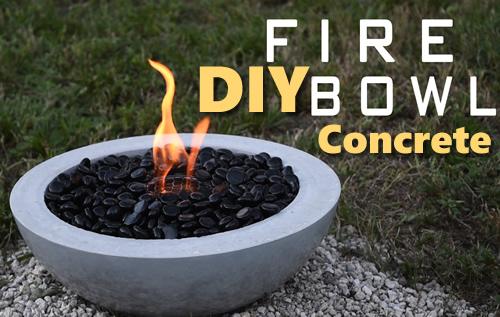 DIY Concrete Fire Bowl