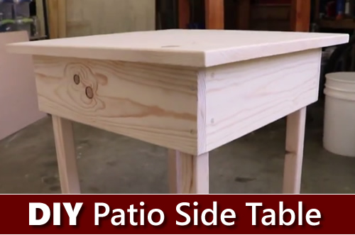 How To Build Your Own Patio Side Table