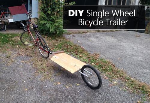 DIY Single Wheel Bicycle Trailer