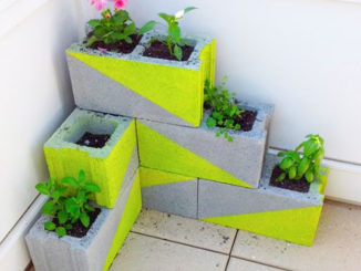 DIY Cinder Block Herb Planter