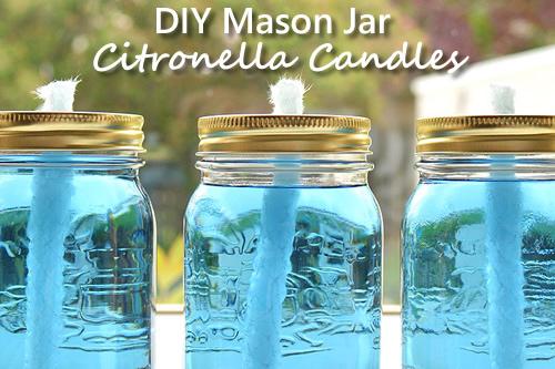 DIY Mason Jar Citronella Candles
