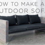 outdoor wood sofa plans