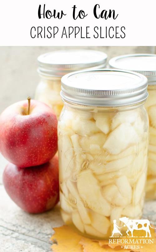 Canning Crisp Apple Slices