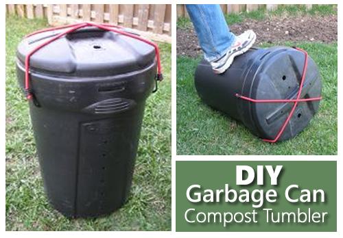 DIY Garbage Can Compost Tumbler