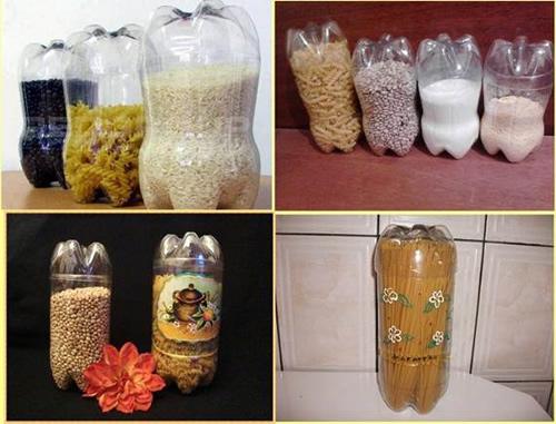 DIY Plastic Bottle Food Canisters