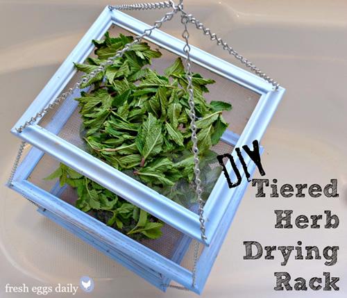 DIY Tiered Herb Drying Rack