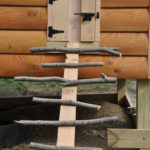 DIY Natural Stick Chicken Coop Ladder