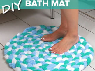 DIY Old Towel Bath Mat