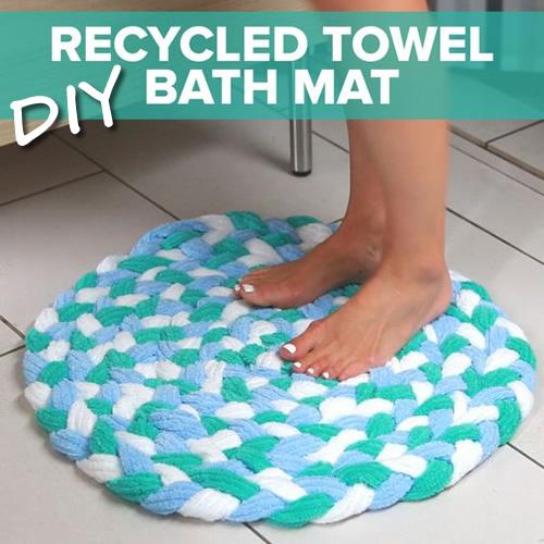 DIY Old Towel Bath Mat