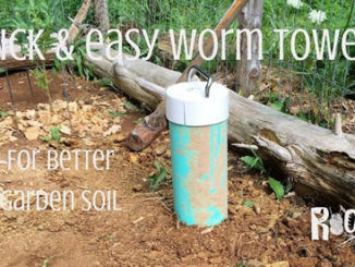 DIY Garden Worm Towers
