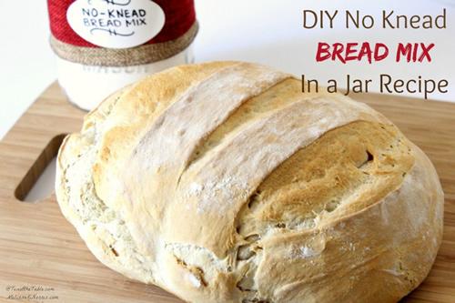 Homemade No Knead Bread Mix