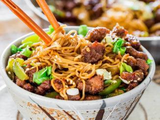 Mongolian Beef Ramen Noodles Recipe