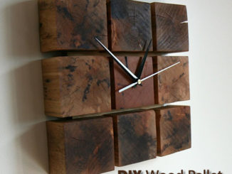 DIY Wood Pallet Block Clock