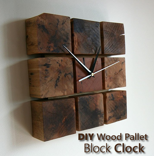 Diy Wood Pallet Block Clock