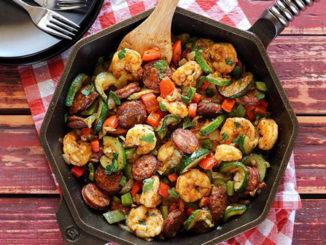 Shrimp And Sausage Skillet Recipe