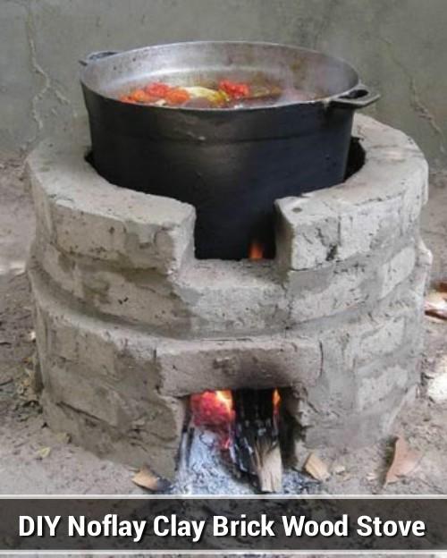 Clay Brick Stove : Diy noflay clay brick wood stove